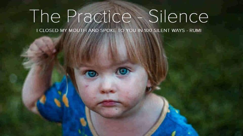 spiritual practice of silence